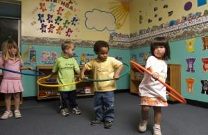 Kids with Hoola-hoops